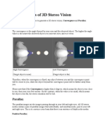 The Concepts of 3D Stereo Vision