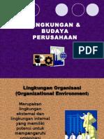 LINGKUNGAN & BUDAYA PERUSAHAAN