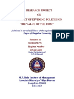 Sreeram-0345-Impact of Dividend Policies on the Value of The
