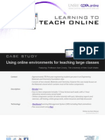 Using online environments for teaching large classes - Case study