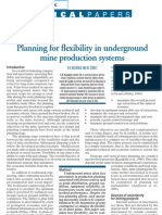 Planning for Flexibility in Underground