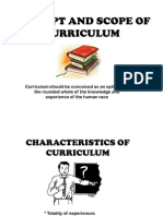 Concept & scope of curriculum