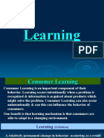Learning & Memory in Consumer Behaviour