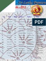 SLPL 2011 Sri Lanka Premier League T20 Match Schedules