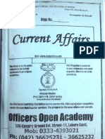 Current Affairs Notes for CSS (Officers Academy Lahore)