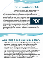 Lower of Cost of Market (LCM)