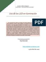 Uso de Los LEDS en Iluminacion