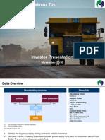 DOID Delta Dunia Makmur Tbk Presentation Material UBS November 2010