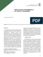 Macro Molecules in Bio Minerals of Aquatic Organisms