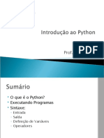 06 - Introducao Ao Python
