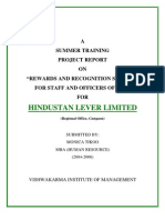 Rewards and Recognition Schemes for Staff and Officers of Hll Hindustan Lever Limited by Monika Tikoo Hr [PDF Library]
