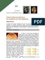 Fracturas da rótula. Da clínicaao tratamento. Hélder Pereira
