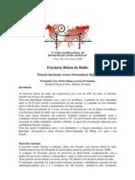 Fracturas distais do rádio. Fixação incruenta versus osteossíntese rígida. Fernando Cruz, Pedro Simas, Leonor Fernandes