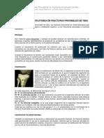 Osteosíntesis Percutánea en fracturas proximales de tibia. Eladio Saura Mendoza y Eladio Saura Sánchez