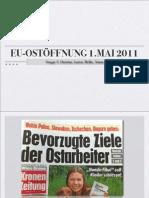 Öffnung des österreichischen Arbeitsmarktes für Osteuropa am 1.5