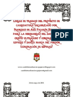 Proyecto de Candidatura - Francisco de Asis Pajaron Hornero