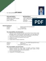 CV Zubair Shah