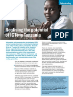 Realising the potential of ICTs in Tanzania