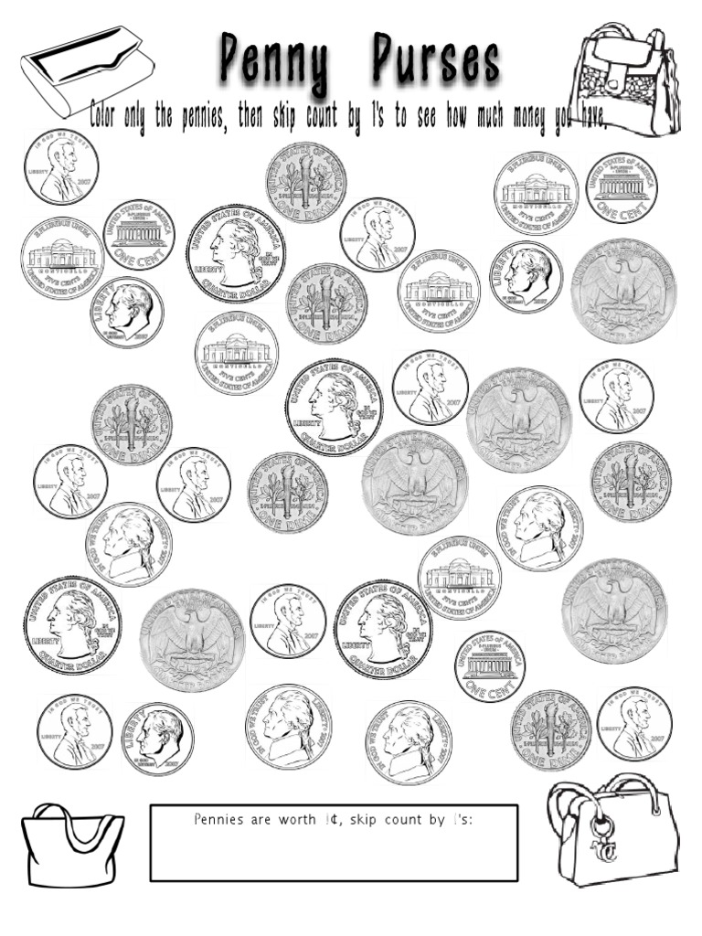 Coin Coloring Pages