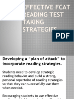FCAT Test Taking Strategies 1