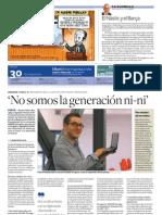 Entrevista Gerard Vidal - Diari de Tarragona, Contraportada