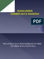 Manajemen Sdm (Pelatihan Dan an