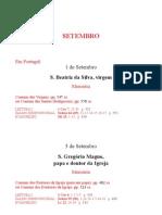 Leccionario Santoral 09 Set