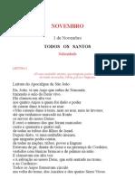 Leccionario Santoral 11 Nov