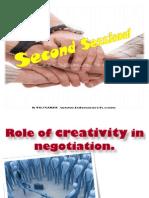 Creativity in Negotiation,Vikash