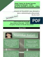 PARTE I _Slids -Teoria da organização de Greenfield