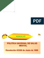 Politicas Nacionales de Salud Mental