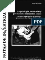 Arqueología, memorias y procesos de marcación social (acerca de las prácticas sociales pos-genocidas en San Miguel de Tucumán)