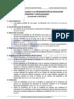 2011.Legislacion Aplicable a Educacion Primaria y Especial Ida Des