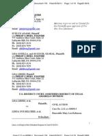 LIBERI v BELCHER, et al. (N.D. TX) - 179.0 - REPLY filed - Plaintiffs Reply to Court Order.179.0