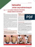 Arkuszewski Zbigniew a. - Terapia Manualna w Leczeniu Zmian Zwyrodnieniowych 01 - Koncepcja Medycyny Manualnej Zasady Badania Manualnego
