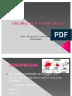 AULA 2ª HEMORRAGIAS - URGÊNCIA E EMERGÊNCIA