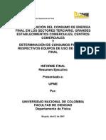 Consumos Terciario_resumen_ejecutivo Upme Col