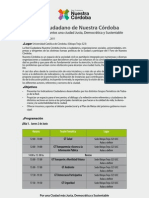 Programa I Foro Nuestra Córdoba final