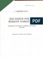 Seis Paseos Por Los Bosques Narrativos Umberto Eco