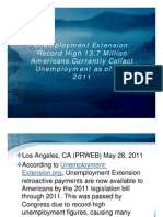 Unemployment Extension Record High 13.7 Million Americans Currently Collect Unemployment as of May 2011