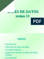 Sesion13 Bases de Datos