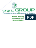 Mobile Banking Informe técnico Generalidades -G y L Group