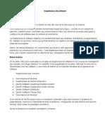 ARQUITECTURA EN EL DISEÑO DE SOFTWARE