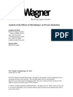 Analysis of the Effects of Micro Finance on Poverty Reduction