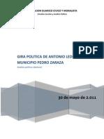Analisis de la Gira de Antonio Ledezma - 28 de mayo de 2.011