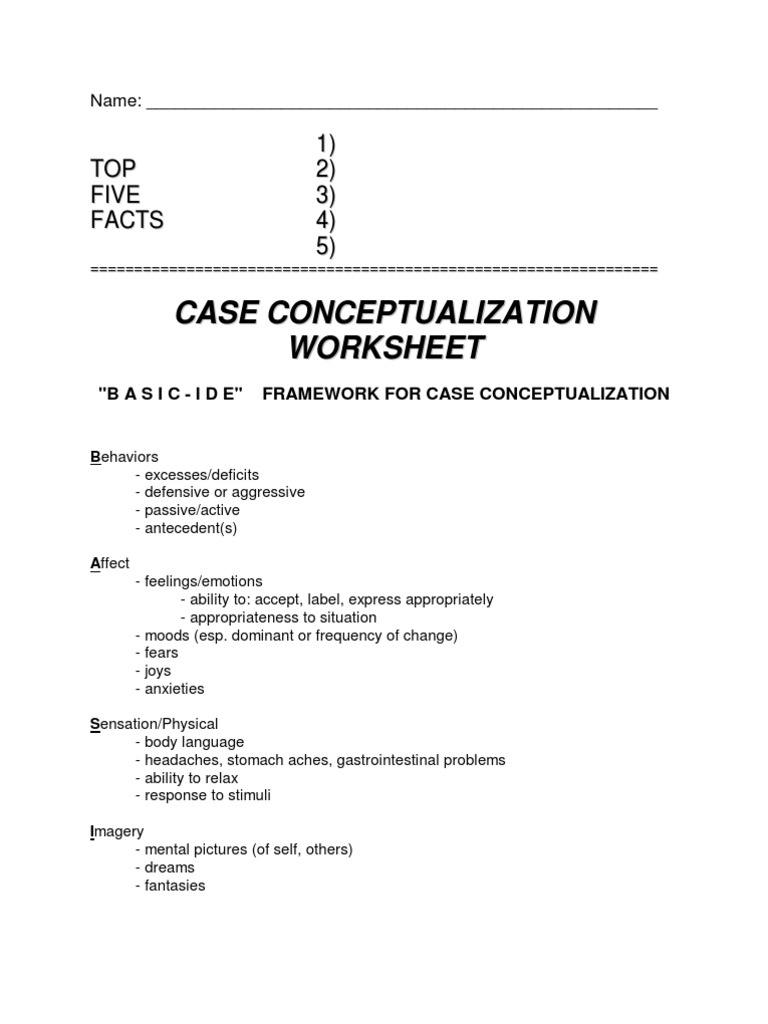 case conceptualization The science and practice of case conceptualization - volume 36 issue 6 - willem kuyken, christine a padesky, robert dudley.