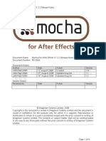 Mocha for Aftereffects Releasenotes
