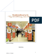 Marketing report with reference to Sainsbury's