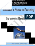 Introduction of Finance & Accounting