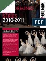 2010 Performing Arts Series Brochure